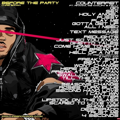 Chris Brown - Before The Party back -- uncutmagazine